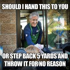 Pete Carroll Super Bowl Call Makes Him A Meme via Relatably.com
