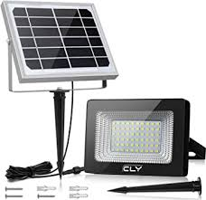 CLY Outdoor Solar Lights, <b>IP66 Waterproof Solar</b> Flood light, 60 ...