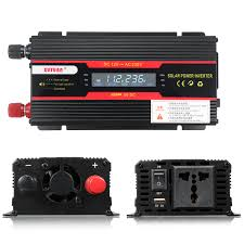 <b>4000W Peak Power Inverter</b> LCD Display DC 12/24V to AC 110V ...