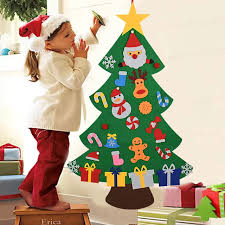 <b>Kids DIY Felt Christmas</b> Tree Christmas Decoration for Home ...