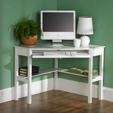 green themes decorating design for work space adorable wite stained wooden corner table adorable small black computer desk