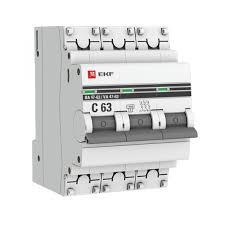 <b>Автоматический выключатель</b> 3P 16А (C) 4,5kA ВА 47-63 <b>EKF</b> ...