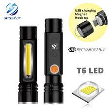 Multifunctional LED Flashlight <b>USB Inside</b> rechargeable <b>battery</b> ...