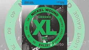 <b>Струны</b> для Бас <b>гитары</b> 40-95 <b>D'Addario EXL220</b> купить в Москве ...