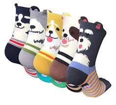 Chalier <b>5 Pairs Womens</b> Cute Animal Socks Colorful <b>Funny</b> Casual ...