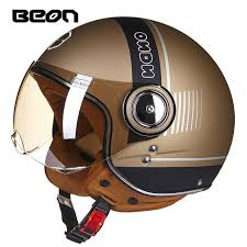 BEON <b>motorcycle helmet</b> Vintage <b>scooter open</b> face helmet Retro ...