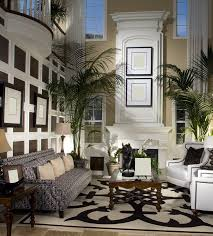 space living room olive: custom decorated living room design with tall ceiling
