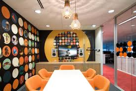 awesome office meeting room design idea with beautiful wall art and orange chair and white meeting awesome office conference room