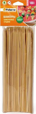 "<b>Шампуры для шашлыка</b> ""<b>Paterra</b>"", бамбук, 25 см, 100 шт — купить ..."