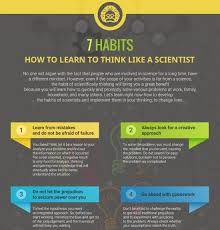 scientific way of thinking archives   e learning infographics  habits how to learn to think like a scientist infographic