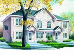 Multi Family House Plans  Triplexes  amp  Townhouses   The House Plan ShopMulti Family Home Plan  M
