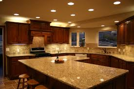 cherry kitchen traditional recessed
