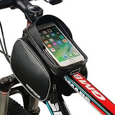 <b>RockBros</b> Black <b>Cycling</b> Frame Bag Pannier 6.0 inch <b>Touch Screen</b> ...