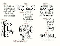 Bathroom Toilet <b>Quotes funny</b> novelty decals sticker shower home ...