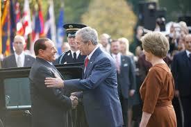 photo essay  welcoming prime minister silvio berlusconi of italypresident george w  bush and mrs  laura bush welcome italian prime minister silvio berlusconi