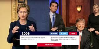 clinton campaign website tool compares trump and clinton hillary clinton donald trump comparison