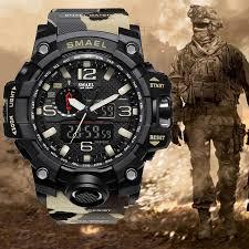 New <b>SMAEL</b> Waterproof Sports Military Shock <b>Men's</b> Analog Quartz ...