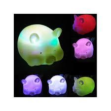 Generic Colorful <b>Cute LED Night Lamp</b> Pig Shaped <b>Night Light</b> Kids ...