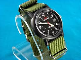 38mm vintage look timex mens military style 24 hr watch