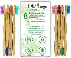 <b>Bamboo Toothbrush</b> for Adults and Teenagers | 8 Pack ...