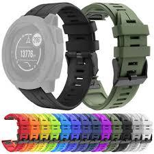 NEW <b>22MM</b> QuickFit <b>Silicone Sports</b> Watch Band Wristband Strap ...