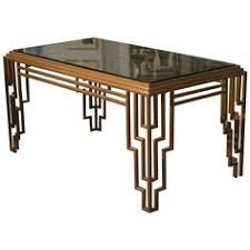 art deco style stepped geometric dining table desk art deco office contemporary