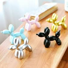Hot <b>Balloon Dog Statue Resin</b> Craft Animal Sculpture Kids Birthday ...
