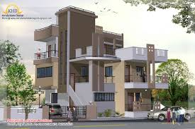 Story House Plan and Elevation   Sq  Ft    Kerala home     Story House Plan and Elevation view   Sq M   Sq