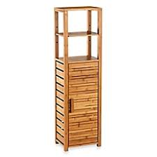 image of bamboo tall floor cabinet apothecary furniture collection
