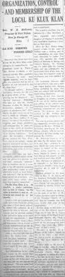 ku klux klan fiery cross articles about jeffersonville seek the evening news 26 1924