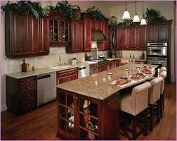 Small Picture Cherry color kitchen cabinets