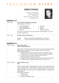 curriculum vitae sample for undergraduate thesis resume builder