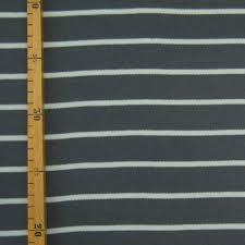 Remnant <b>1m Organic</b> Jersey Stripes Grey-Bluegrey, GOTS-certified ...