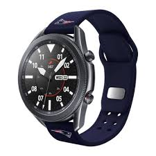 Nfl New England Patriots Samsung Watch Compatible <b>Silicone</b> ...