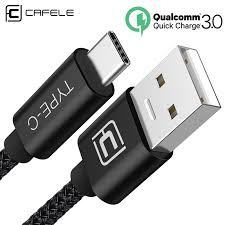 cafele usb type c cable for xiaomi huawei mobile phone usb c fast charging mini type c samsung galaxy s9 data sync