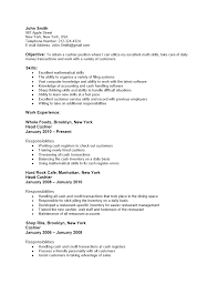 convenience store clerk resume cool resume example for cashier brefash