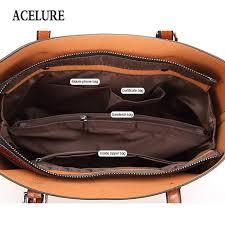 ACELURE Women bag Oil wax <b>Women's Leather Handbags Luxury</b> ...