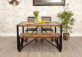 small dining bench: urban chic small dining bench reclaimed wood small dining bench urban chic irfa