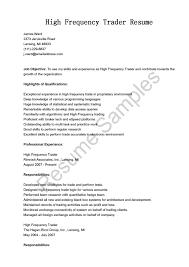 cover letter sample traders resume sample trader resume sample cover letter equity trader cv equity resume example sample sle of foreign exchange ssample traders resume