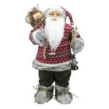 "Northlight <b>24</b>"" Nordic Standing <b>Santa Claus Christmas</b> Figure With ..."