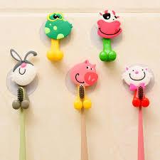 Kid <b>Gift</b> Animal <b>Hook</b> Toothbrush Sucker Rack <b>Cartoon</b> Holder ...