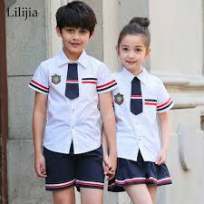 online get cheap summer clothing juniors aliexpress com alibaba lilijia primary junior senior high school uniforms boys girls clothing sets teenage outfits summer students necktie