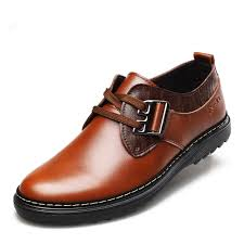 big size new mens cowhide lace shoes 2015 genuine leather fashion office business luxury spring mens branch office shoe