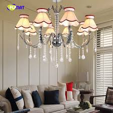 Modern <b>LED</b> Crystal Chandeliers With Lampshade For Living Room ...