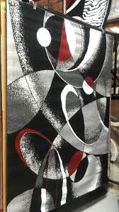 abstract contemporary 5x8 red black white gray area rug modern carpet contemporary black white rug home