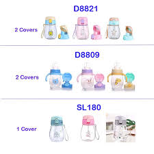 350ml Sippy Cup with Strap Baby <b>Feeding Water</b> Drink Leak Proof ...
