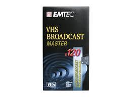 S-<b>VHS</b> video cassette Broadcast Master EMTEC <b>E 120</b> ...