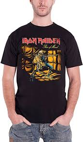 Official <b>Iron Maiden Piece</b> 2 of Mind Graphic T-Shirt Rock Metal ...