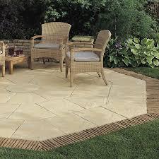patio slab sets: stonemarket paving manmade yorkstone next york buff paving