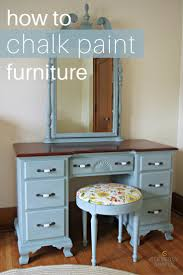 how to chalk paint furniture diy chalk paint furniture